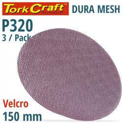 DURA MESH ABR.DISC 150MM HOOK AND LOOP 320GRIT 3PC FOR SANDER POLISHER