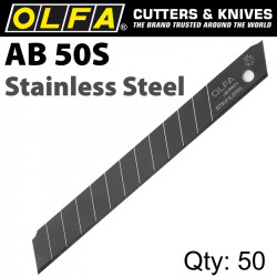 OLFA BLADES STAINLESS STEEL 50/PACK 9MM