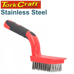 SOFT GRIP WIDE STAINLESS STEEL STRIPPER BRUSH TCW