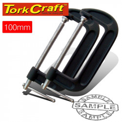 CLAMP G HEAVY DUTY 100MM TWIN PACK 4'