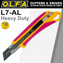 OLFA 18MM HEAVY DUTY CUTTER WITH AUTO LOCK PINK