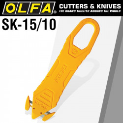 OLFA DISPOSABLE SAFETY KNIFE WITH CONCEALED BLADE X10PACK