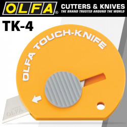 OLFA TOUCH KNIFE 32 PER PACK ON HANG UP DISPLAY CARD