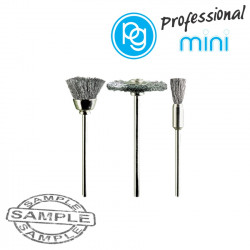 ASSORTED STEEL BRUSHES. 3PCS