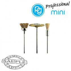 ASSORTED BRASS BRUSHES. 3PCS