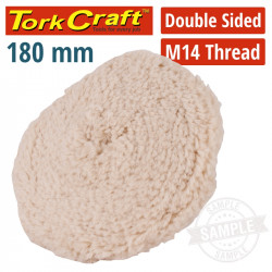 DOUBLE SIDED WOOL BUFF 7' 180MM WITH M14 THREAD