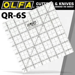 QUILT RULER 6' X 6' SQUARE WITH GRID