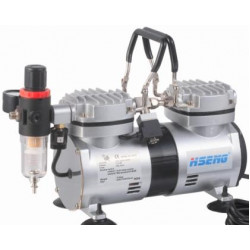 COMPRESSOR FOR AIRBRUSH 2CYL W/REG.& FILTER