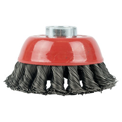 WIRE CUP BRUSH TWISTED 100MMXM14 BULK
